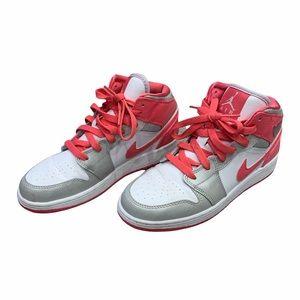 Kid's Jordan Pink & White Athletic Sneakers